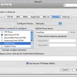 Mac's Proxy setup